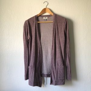 Old Navy Open Cardigan Marbled Purple